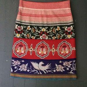 Moth Anthropologie lightweight sweater skirt